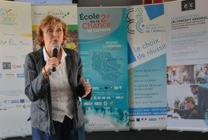 Edith CRESSON lors de la remise des prix aux RSC 2017