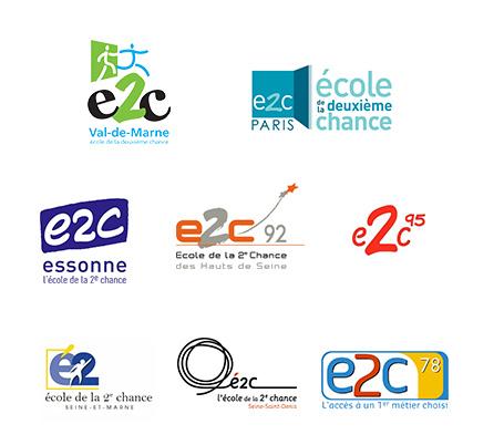 Logos E2C Ile de France