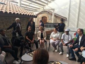 Visite Muriel Penicaud, ministre du Travail, à l'E2C Marseille