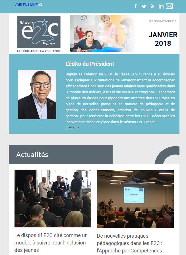 Newsletter janvier 2018 Réseau E2C France