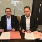 Signature du partenariat entre le Réseau E2C France et EPA, en présence d'Alexandre SCHAJER, Président du Réseau E2C France, et Julien LECLERCQ, Président d'EPA France