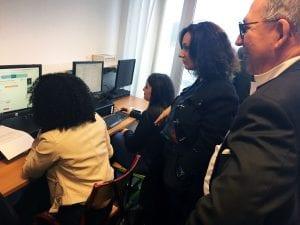 Estelle SAUVAT et Alexandre SCHAJER lors d'un atelier numérique E2C