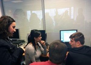 Estelle SAUVAT lors d'un atelier de formation au numérique à l'E2C en Champagne Ardenne