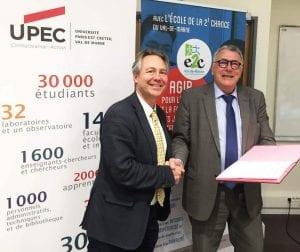 CP_L'UPEC et l'E2C94 renouvellent leur partenariat 16042018
