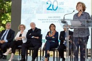 Discours d'Edith Cresson pour les 20 ans du dispositif E2C France