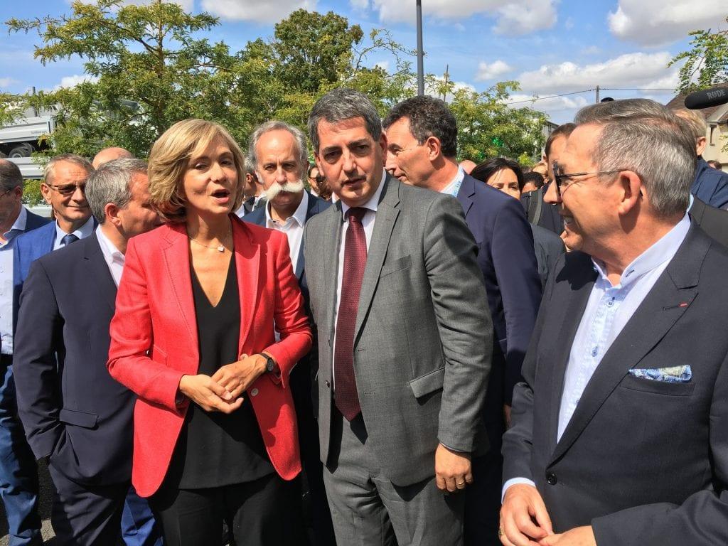 3 présidents de région et Alexandre Schajer à la foire de chalons 2018