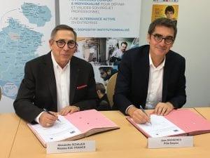 Signature accord-cadre national entre le Réseau E2C France et Pôle emploi