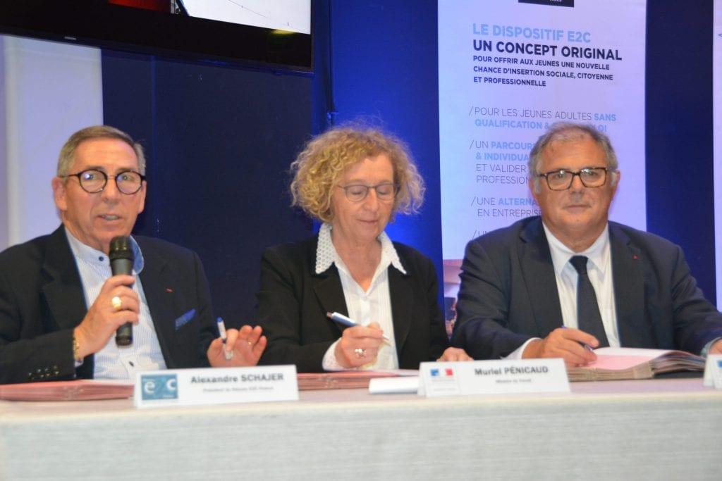 Signature convention Réseau E2C et Etat