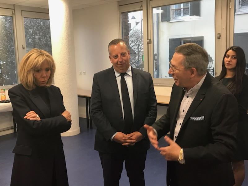Alexandre Schajer et Brigitte Macron