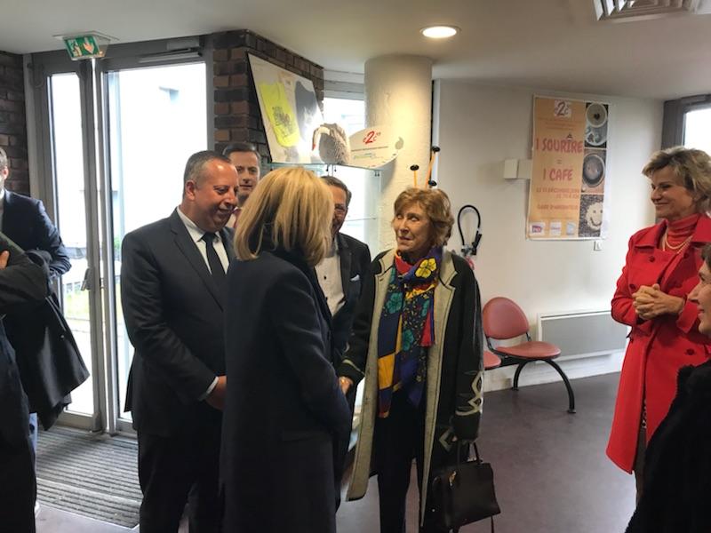 Visite de Mme Macron à l'E2C95 (8)