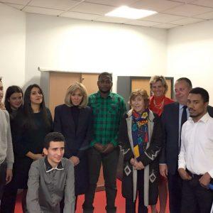 Visite de Mme Macron à l'E2C95 (9)