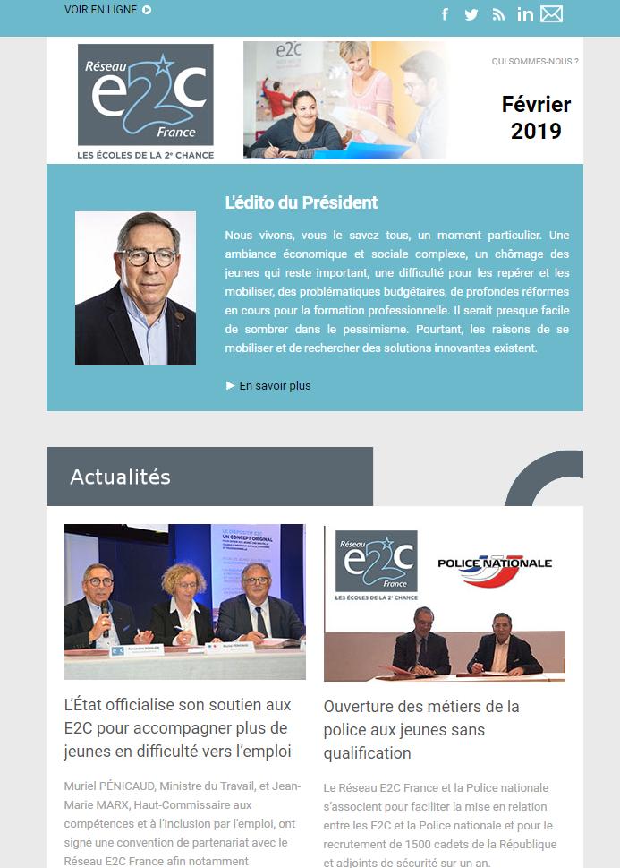 Newsletter Réseau E2C France Février 2019