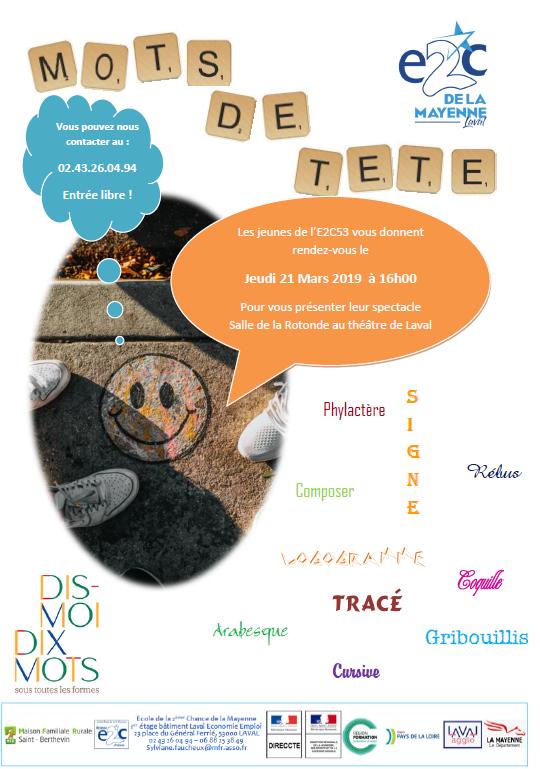 Théâtre des stagiaires de l'E2C Mayenne