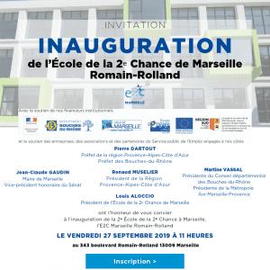 Inauguration du nouveau site de l'E2C Marseille