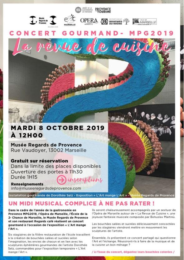 Concert gourmand de l'E2C Marseille
