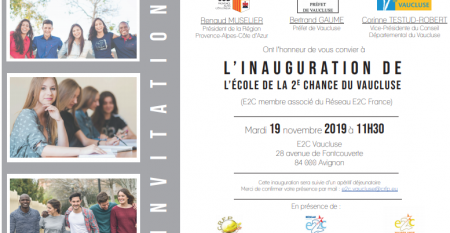 Inauguration E2C Vaucluse