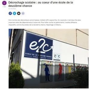 Reportage France Culture sur les E2C