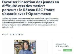 Partenariat opcommerce et Réseau E2C France