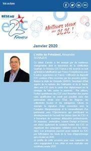 Newsletter du Réseau E2C France - janvier 2020