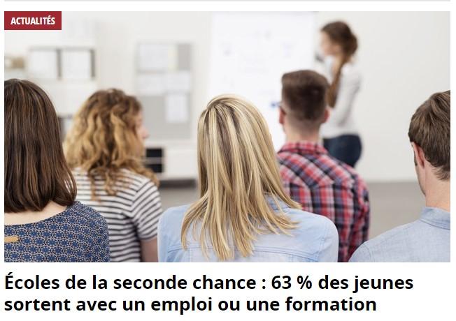 63% des stagiaires E2C en emploi ou en formation