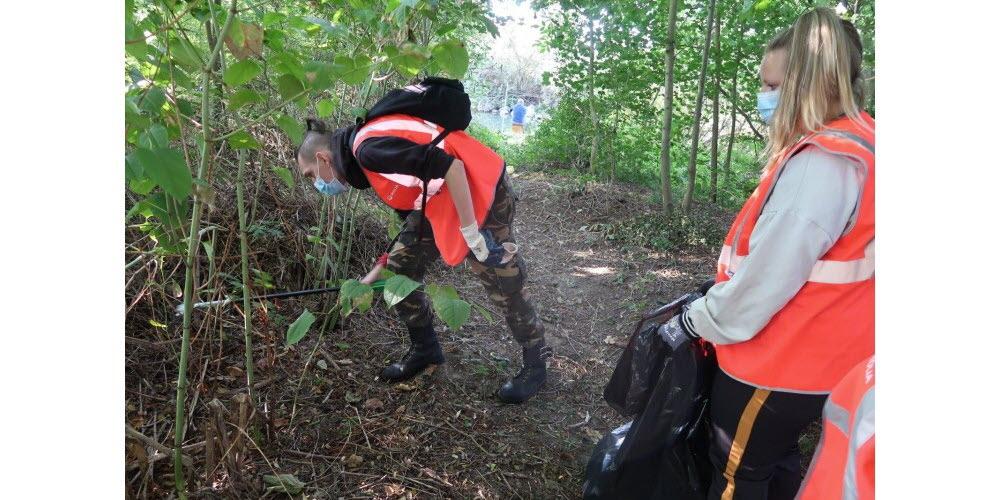 Les stagiaires de l'E2C Lorraine engagés pour le World Clean Up Day - 2020
